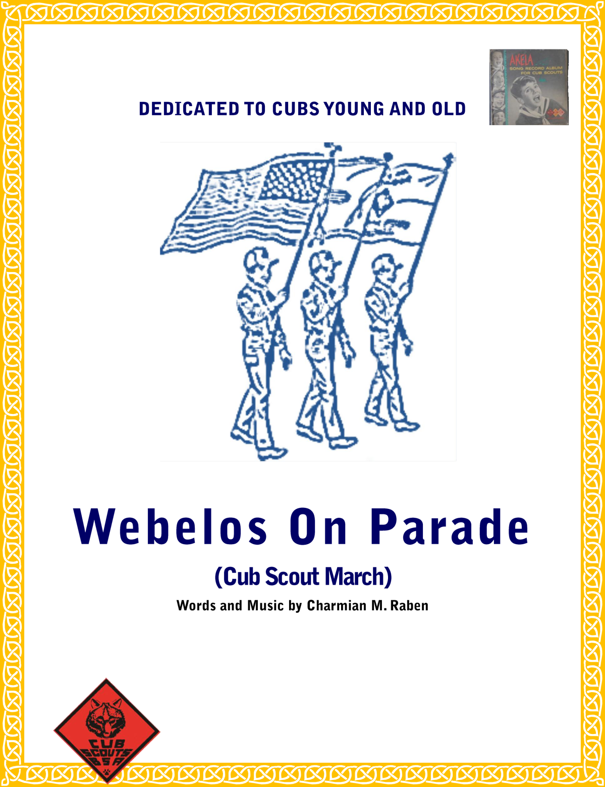 Webelos On Parade cub scout march