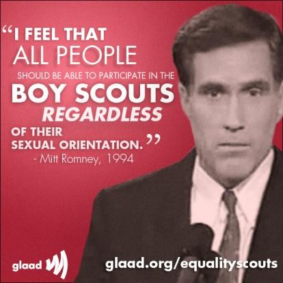 Flashback: Romney Says Boy Scouts Should AdmitHomosexuals