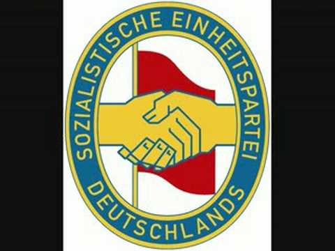 """Die Partei hat immer recht"" song of the Socialist Unity Party of Germany"